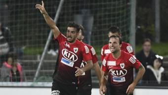 Im letzten Heimspiel gegen Xamax hatten die FCA-Spieler aufgrund des 2:0-Sieges guten Grund zum Jubeln.