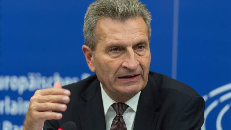 Günther Oettinger. keystone