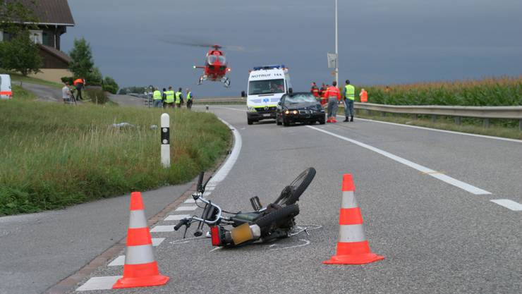 Unfallort in Hendschiken (Bild: Aargauer Zeitung)