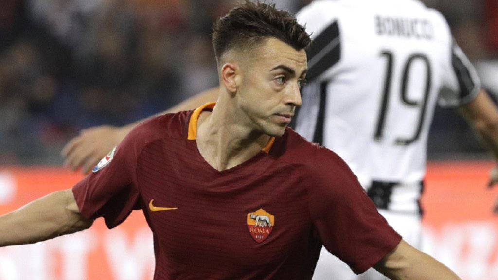 Jubel bei Roma, Frust bei Juve: Siegtorschütze Stephan El Shaarawy zelebriert sein 2:1