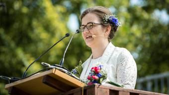 Festrednerin Sarah Olsen: Es geht nichts über den Maienzug.