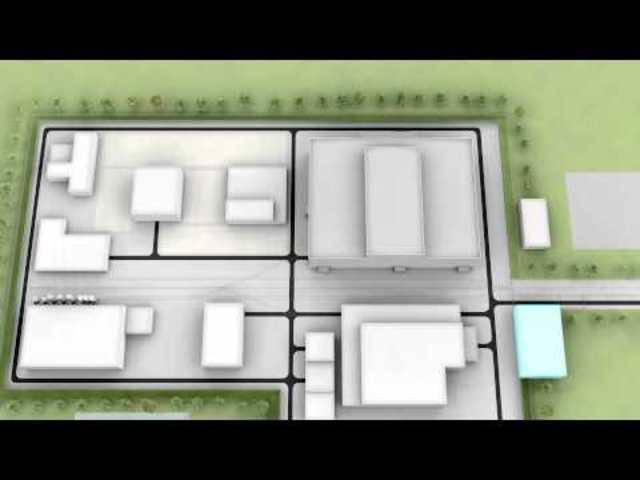 Aus diesen Gebäude-Komponenten besteht eine Oberflächenanlage eines Tiefenlagers für hochaktive Abfälle.