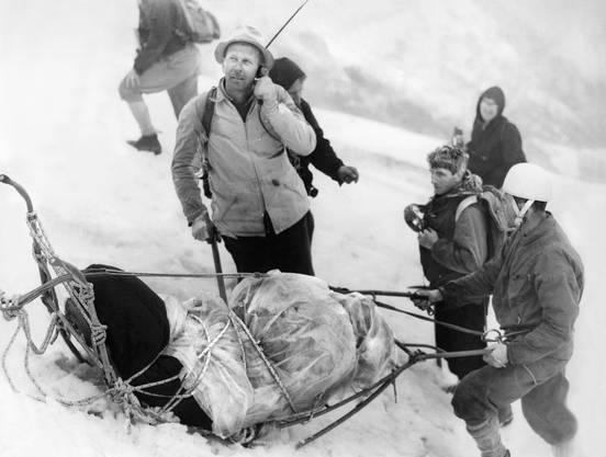 Rund fünfzig Bergsteiger aus sechs Ländern schlossen sich einer internationalen Rettungstruppe an.