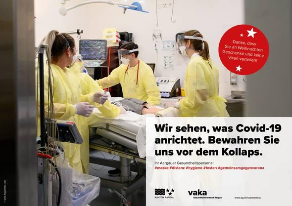Corona-Kampagne des Kantons Aargau und der Aargauer Spitäler: «Bewahren Sie uns vor dem Kollaps»
