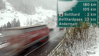 """Der motorisierte Güterverkehr in der Schweiz """"rentiert"""" gemäss neuen Zahlen des Bundes. (Themenbild)"""