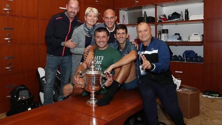 Wichtiger Bestandteil im Djokovic-Team: Craig O'Shannessy (l.).