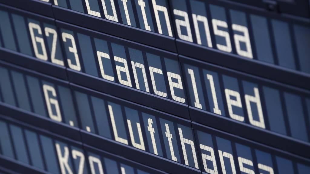 Weitere Flugausfälle bei Lufthansa erwartet
