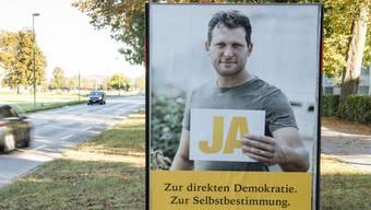 Roger Schneiter Selbstbestimmungsinitiative: Abstimmungsplakate