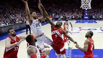 Die Philadelphia 76ers (im Bild Ben Simmons am Ball) erreicht einen Showdown um den Einzug in die Playoff-Halbfinals der NBA
