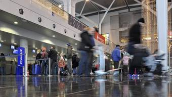 Die Abflughalle des Euro-Airports.