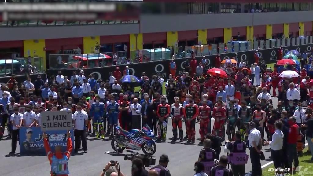 Schweigeminute am GP von Italien für verstorbenen Moto3-Fahrer Jason Dupasquier