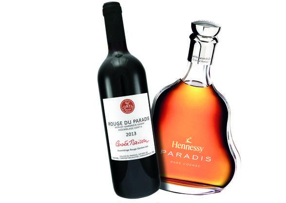 Ähnlich? Cortis Rotwein und der Cognac von Hennessy.