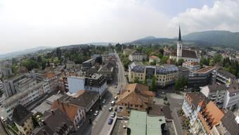 Die Stadt Grenchen von Oben. Am 18.Oktober stimmen die Stimmberechtigen auch über den Landbeschaffungskredit ab.