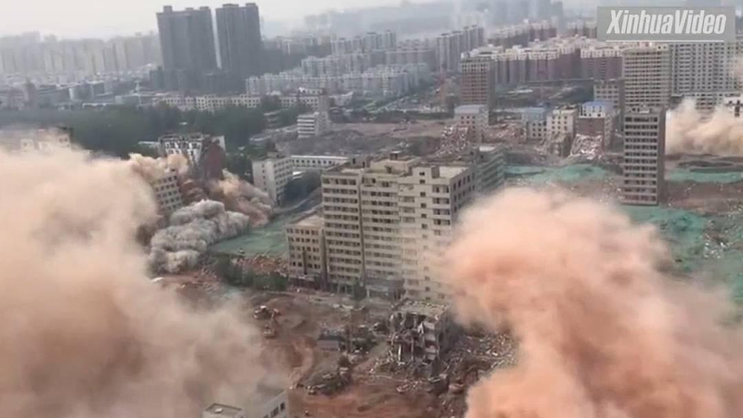 2,5 Tonnen Dynamit, 36 Gebäude, 20 Sekunden – Sprengung der Superlative in China