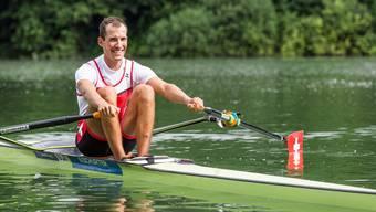 Daniel Wiederkehr vom Ruderclub Baden schied in Rio früh aus.