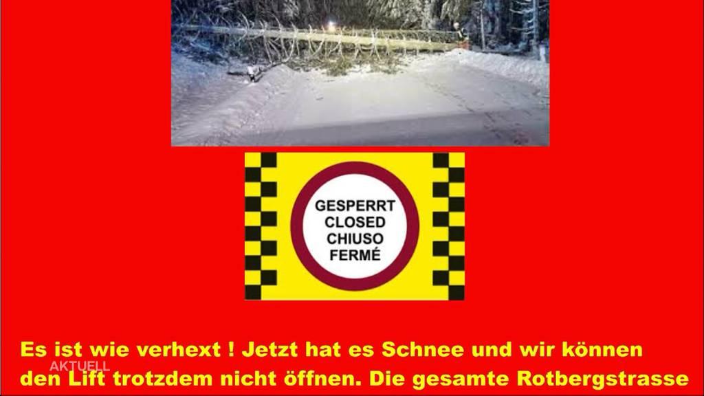 Zu viel Schnee: Skifahren am Rotberg ist nicht möglich