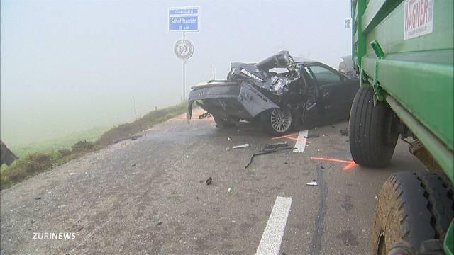 Spektakulärer Verkehrsunfall in Oberneunforn TG