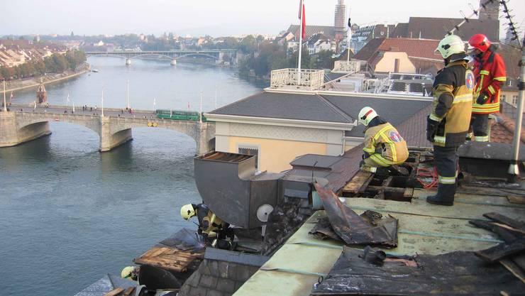 Feuerwehr Basel im Einsatz am Blumenrainweg