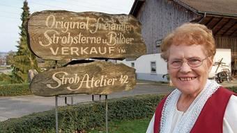 Anna Hoppler-Keusch und ihr Stroh-Atelier waren schweizweit bekannt.