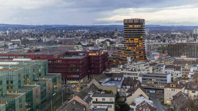 Der Turm der Bank für internationalen Zahlungsausgleich in Basel. (Archiv)