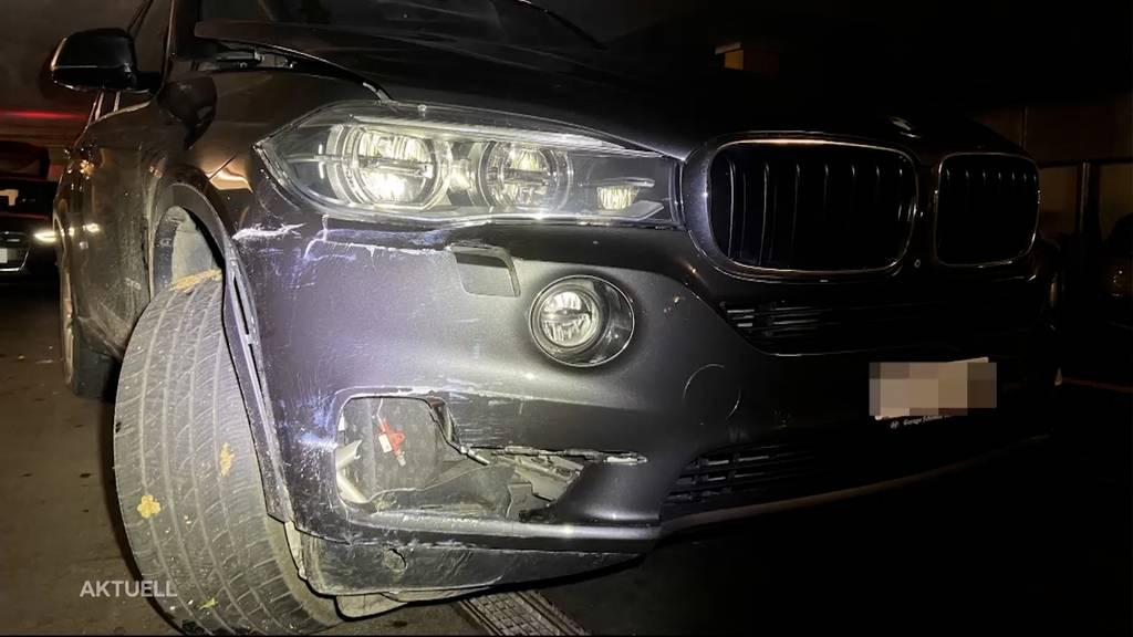 Teenies klauen und verunfallen in Oberentfelden mit einem BMW