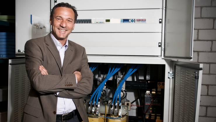 Salvatore Donato vor der Installation im Manor-Solomarkt in Solothurn.