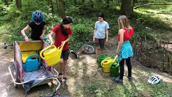 Schulkinder retteten Amphibien über die Durststrecke in Baden