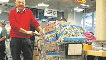 Armin Meister freute sich sehr über die Hilfsbereitschaft der Leute