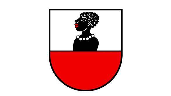 Das Mandacher Wappen zeigt den heiligen Mauritius.