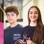 Die vier Lehrlinge Joel Flury, Gianni Bernasconi, Gjessika Selmani und Chris Berger.