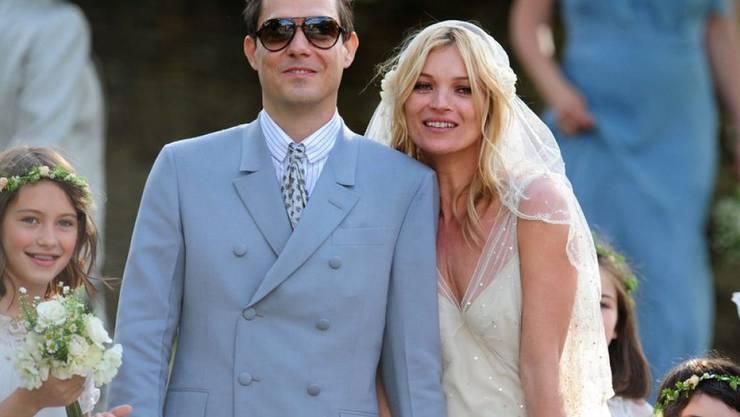 2011 feierten Kate Moss und Jamie Hince grosse Hochzeit. Fünf Jahre später sind sie geschieden. (Archivbild)