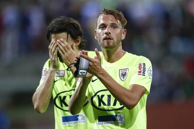 Die Enttäuschung ist Pascal Thrier und Olivier Jäckle ins Gesicht geschrieben.