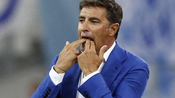 Viel Grund zum Ärger: Marseilles neuer Trainer Michel verlor mit seinem Team in Guingamp