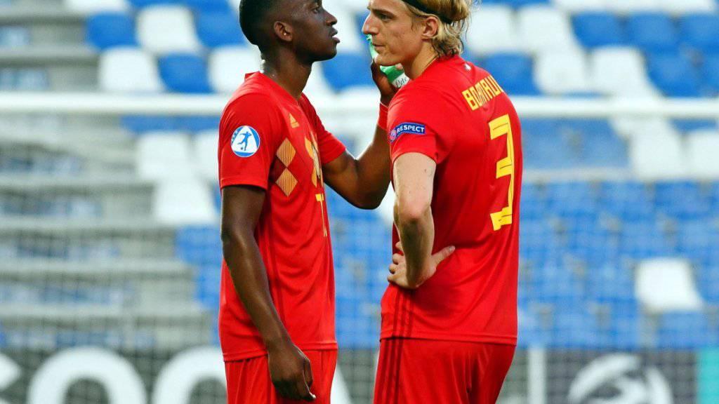 Dodi Lukebakio (links) in einem Spiel mit der belgischen U21-Auswahl