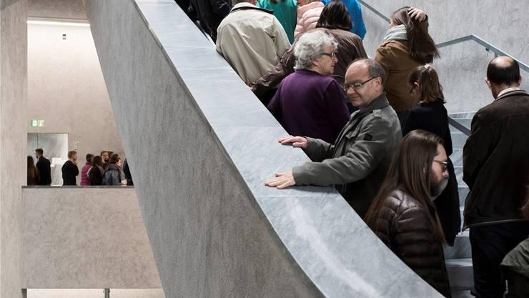 Gross war der Andrang, als der Museums-Erweiterungsbau im April 2016 eröffnet worden ist. Abgeschlossen aber ist das Projekt bis heute nicht.Roland Schmid