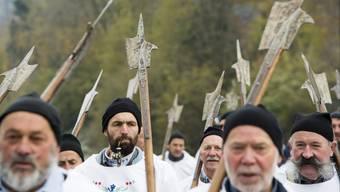 Schwyzer Bauern lauerten vor 700 Jahren den Habsburgern auf. Vor zwei Jahren gedenken ihre Nachfahren der Schlacht von Morgarten.