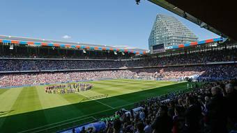 Der St. Jakob-Park ist 2016 der Austragungsort des Finals in der Europa League.