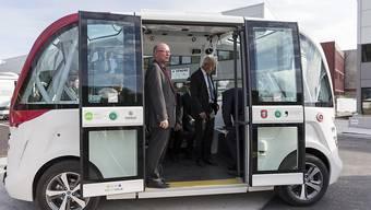 Solche Busse verkehren in Marly. Sie verbinden die Station Marly Cité mit dem Innovationszentrum.