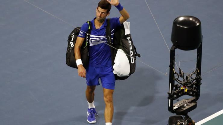 Novak Djokovic musste sich früh aus Miami verabschieden