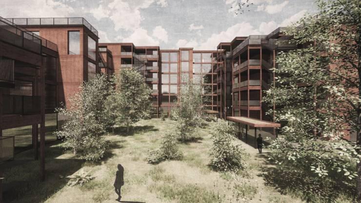 Bäume und Wiese im Quartier: Nebst mehr Wald sollen auch Wohngebiete grüner werden.