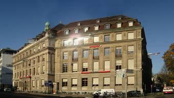 Das Redaktionsgebäude der «Basler Zeitung» am Aeschenplatz in Basel.  HO