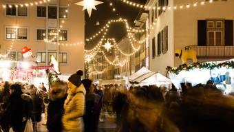Weihnachtsmarkt Laufenburg.Thema Weihnachtsmarkt