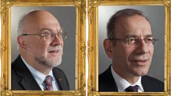 Nationalratspräsident Ruedi Lustenberger (CVP) und Ständeratspräsident Hannes Germann (SVP)