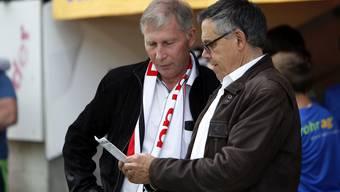Ein Herz und eine Seele: Aaraus Präsident Alfred Schmid (links) und sein bisheriger Sportchef Urs Bachmann.
