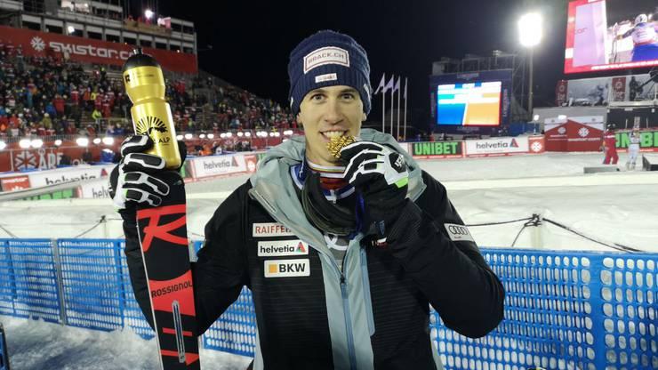 Ramon Zenhäusern hat das Team zu Gold geführt - es ist seine erste WM-Medaille überhaupt