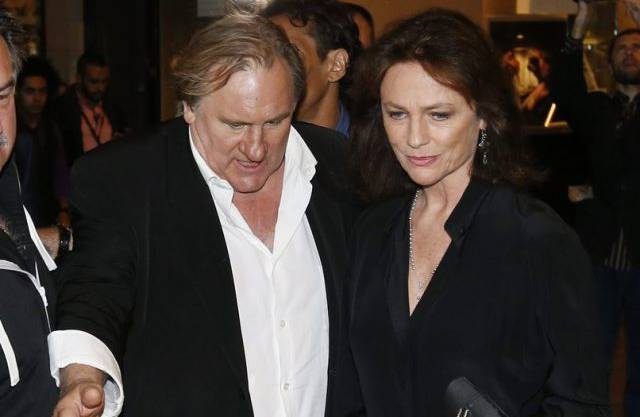 Gérard Depardieu (l.) und Jacqueline Bisset in Cannes