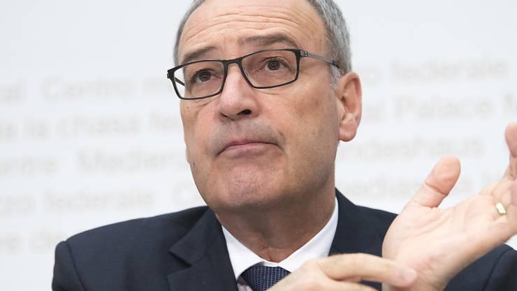 Laut Bundesrat Guy Parmelin hatte der Schweizer Geheimdienst seit 2014 keine Kontakte mehr zu dem mutmasslichen Spion, der in Deutschland in Haft sitzt. (Archivbild)