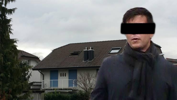 Der mutmassliche Täter Thomas N. und das Mordhaus in Rupperswil (Fotomontage)