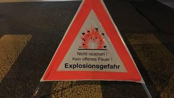 Gasleck in der Rosengasse in Olten (29.08.2016)