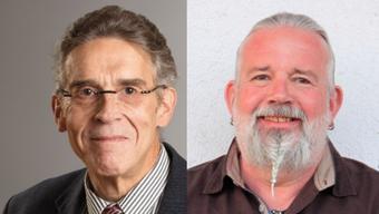 Rolf Späti (Gemeinsame Liste) und Brandon Miller (Freie Liste) wollen das Gemeindepräsidium.